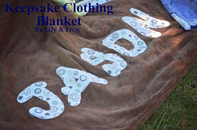 Handmade Keepsake Baby Clothing Blanket (3)